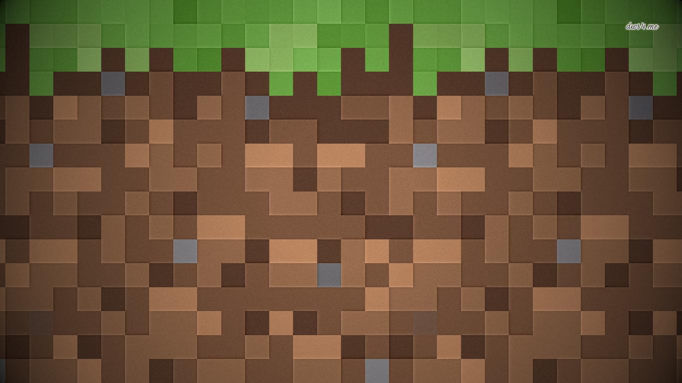 1366x768 Minecraft Pattern Wallpaper