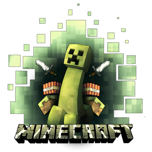500x500 Collection Of Free Minecraft Vector Printing. Download On Ubisafe