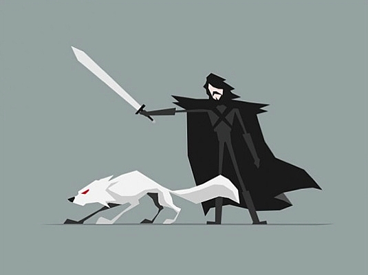 535x400 Game Of Thrones Characters Illustrated In Minimalist, Vector Art