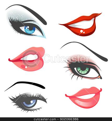 429x464 Eye Clipart Lip