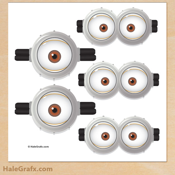 600x600 Free Despicable Me Pin The Goggles On The Minion Printable
