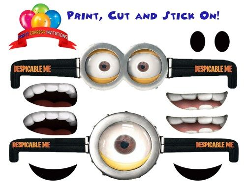 picture about Minion Gru Logo Printable called Minions Eyes Vector at  Cost-free for particular person