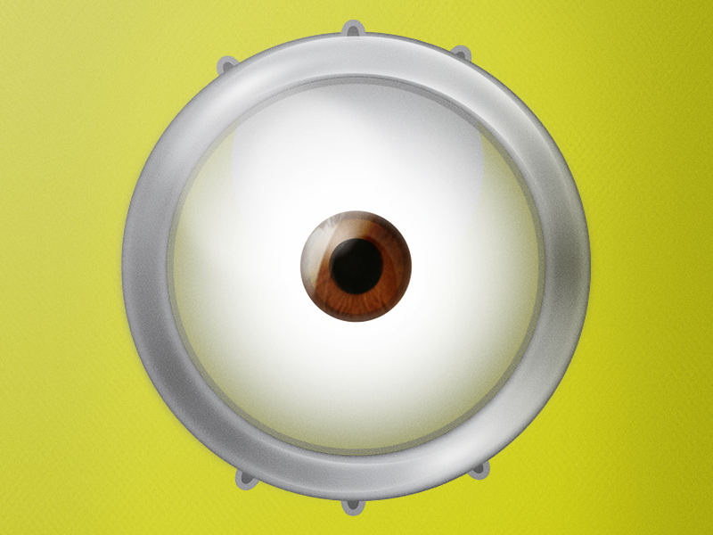 It's just an image of Minion Eye Printable regarding clipart