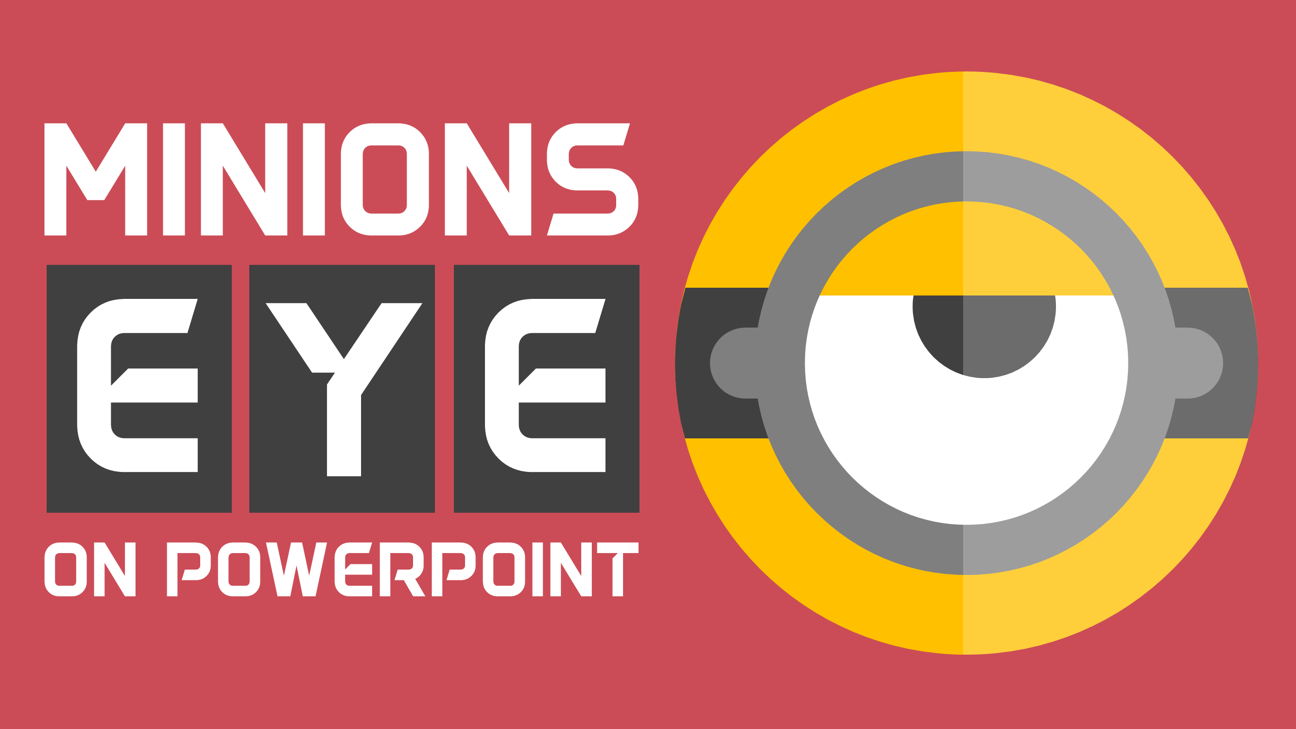 2667x1500 Minions Eye Vector Icon Design In Powerpoint Icon Design In