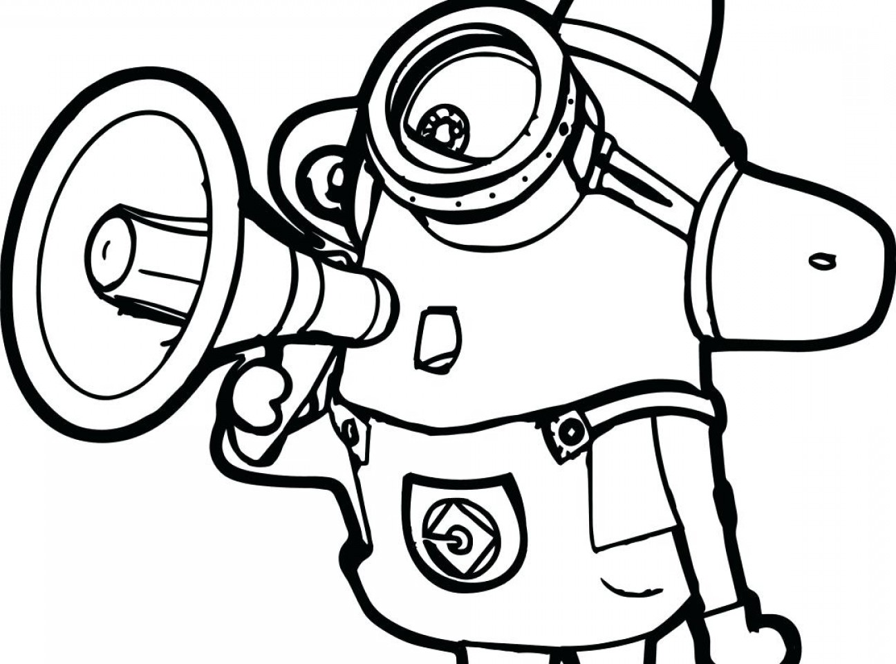 1296x960 Minions Vector Black And White Lazttweet