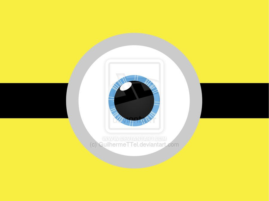 900x675 Minions Clipart Eye Cute Borders, Vectors, Animated, Black And