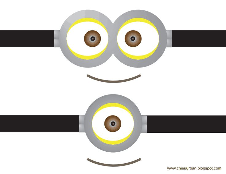 photograph regarding Minions Logo Printable named Minions Eyes Vector at  Totally free for particular person