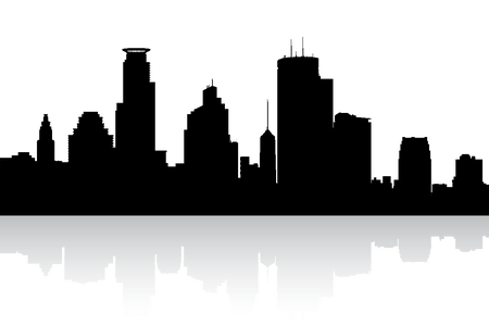 450x300 Collection Of Free Vector Skyline Minneapolis. Download On Ubisafe