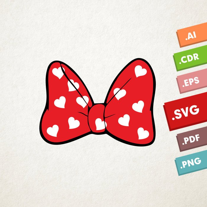 700x700 Minnie Mouse Bow Svg Vector Files. Instant Download Design Etsy