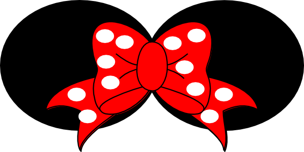600x300 Minnie Mouse White Clip Art