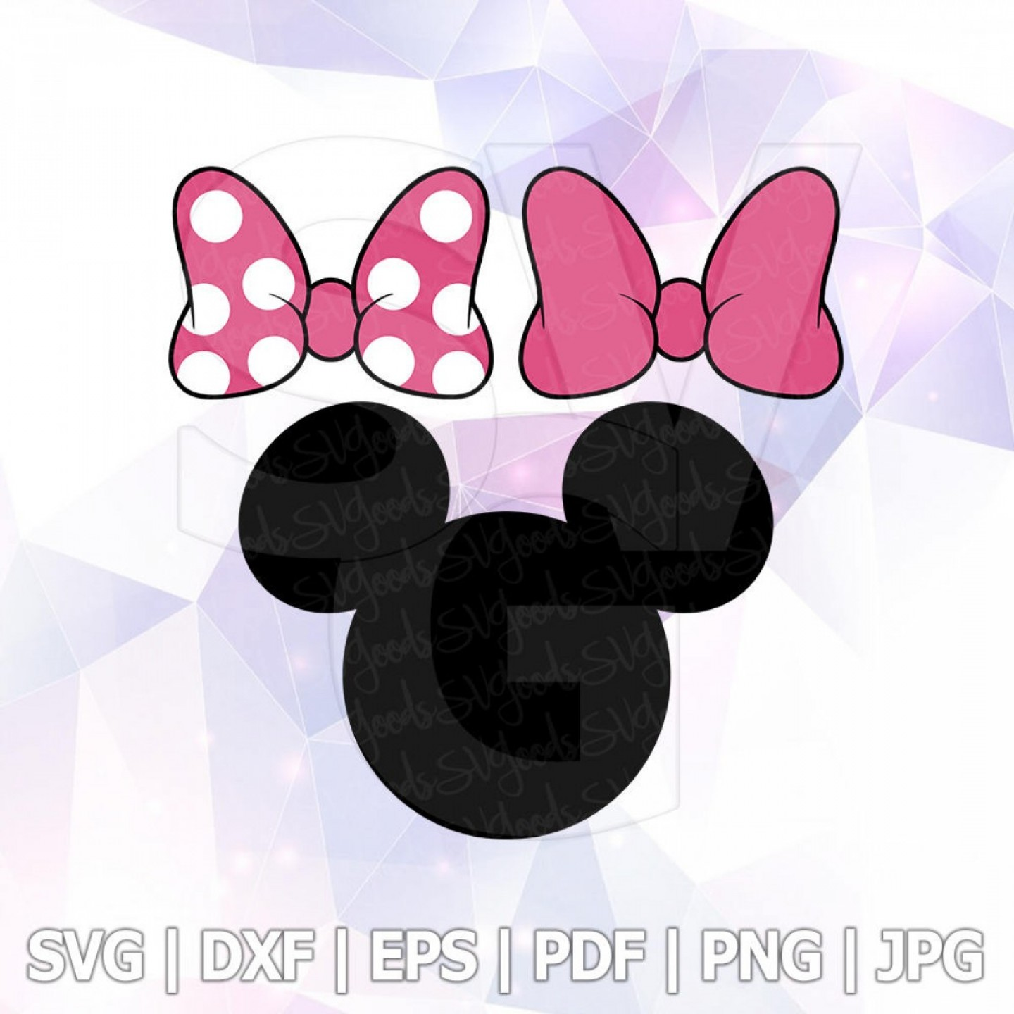 1440x1440 Svg Dxf Png Minnie Mouse Bow Clipart Shopatcloth