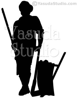 315x400 Minute Man Silhouette, 1 Color Vector Art By Yasuda Studio