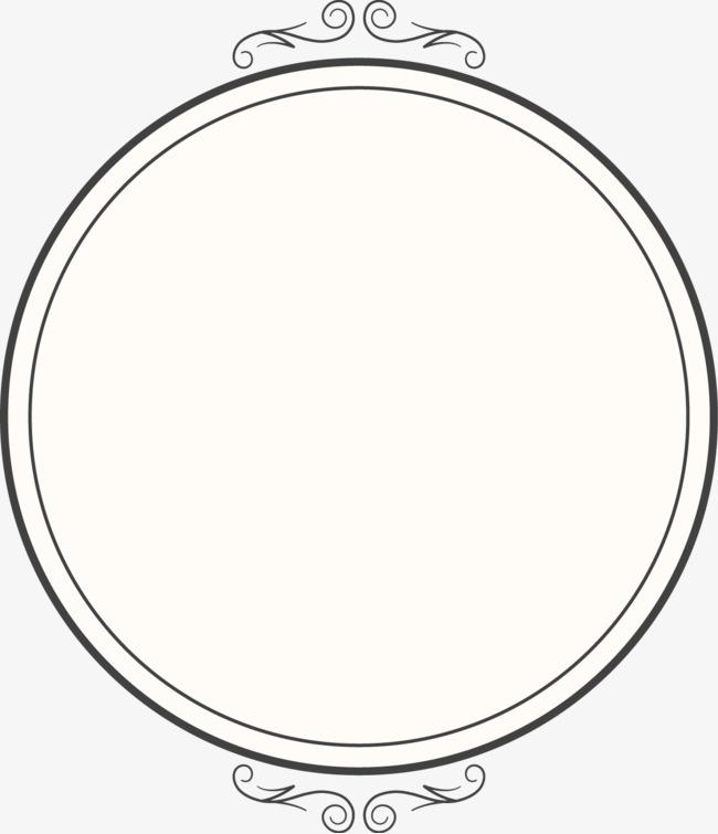 650x755 Vector Creative Design Round Mirror Frame Diagram, Round Vector