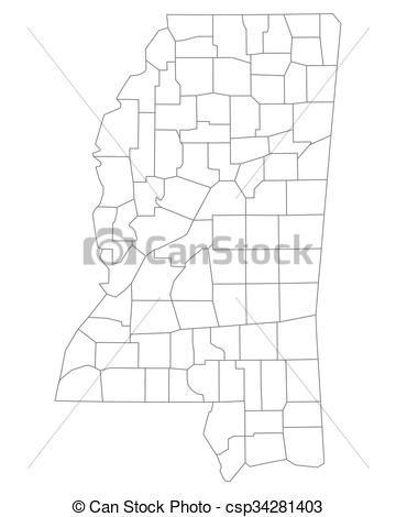 360x470 Map Of Mississippi.