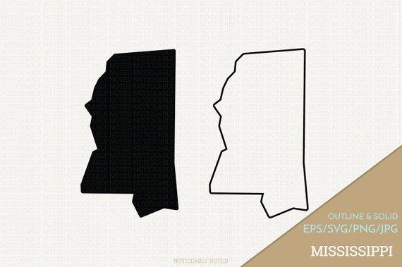 570x379 Mississippi Vector State Clipart Ms Clip Art Mississippi Etsy