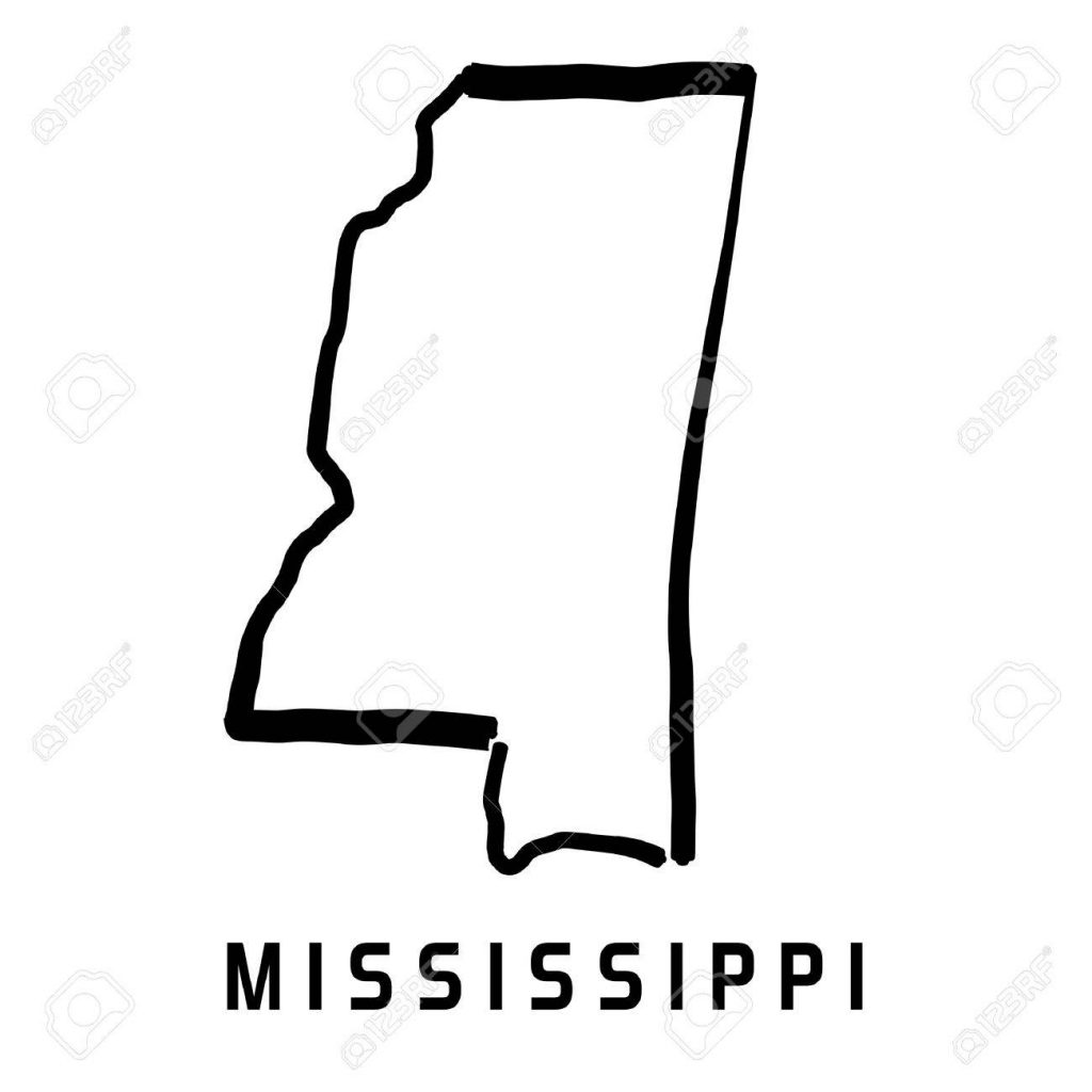 1024x1024 Us State Map Vector Impressive Ideas Mississippi State Map Outline