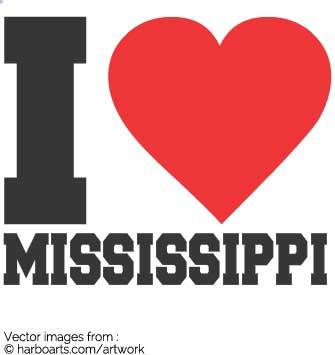 335x355 Download I Love Mississippi Bumper Sticker