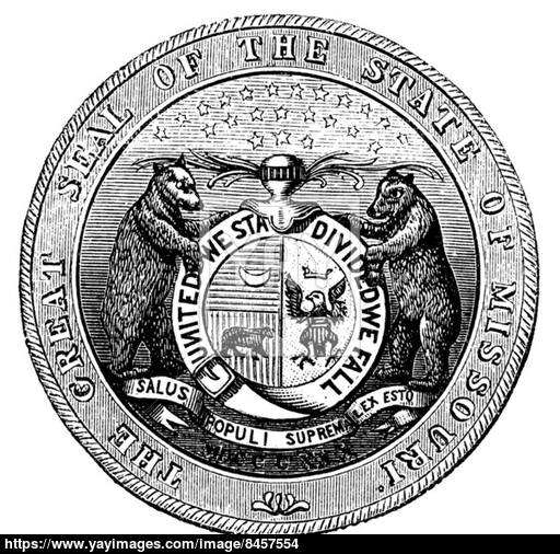 512x506 Seal Of The State Of Missouri, Vintage Engraving Vector