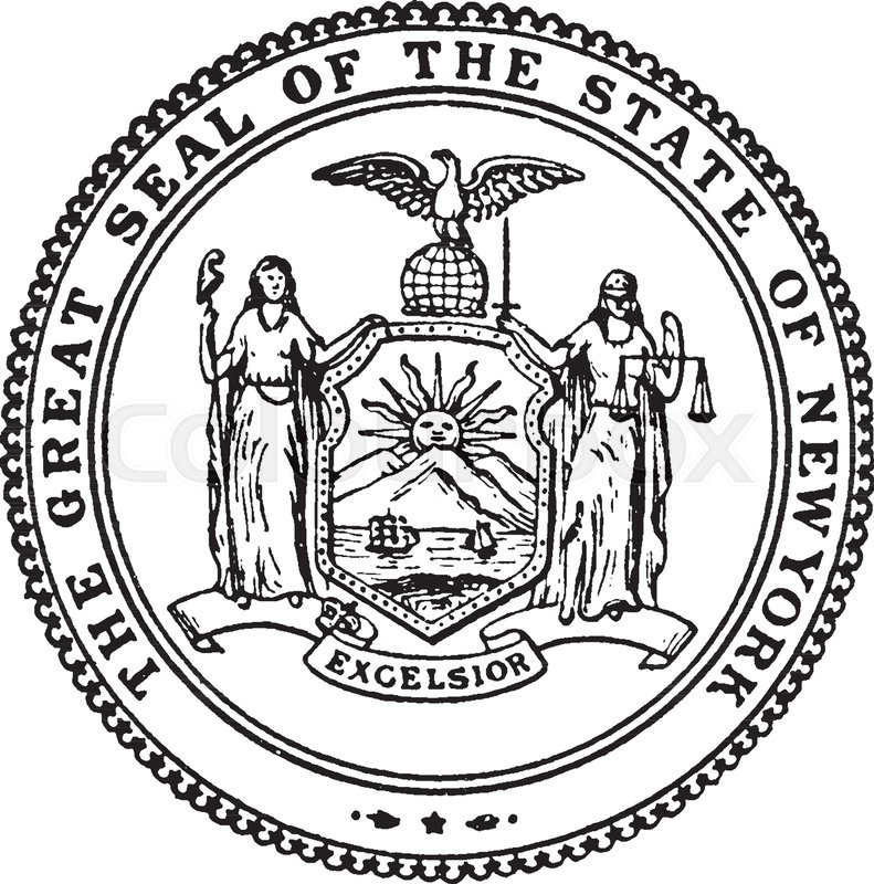 791x800 The Great Seal Of The State Of New York, This Circle Shape Seal