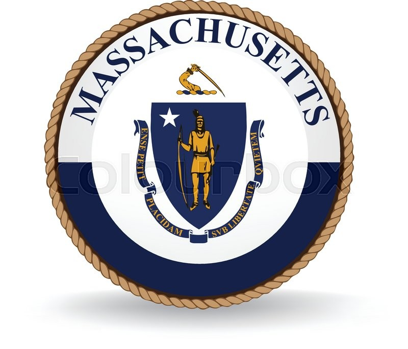 800x683 Flag Seal Of The State Of Massachusetts. Stock Vector Colourbox