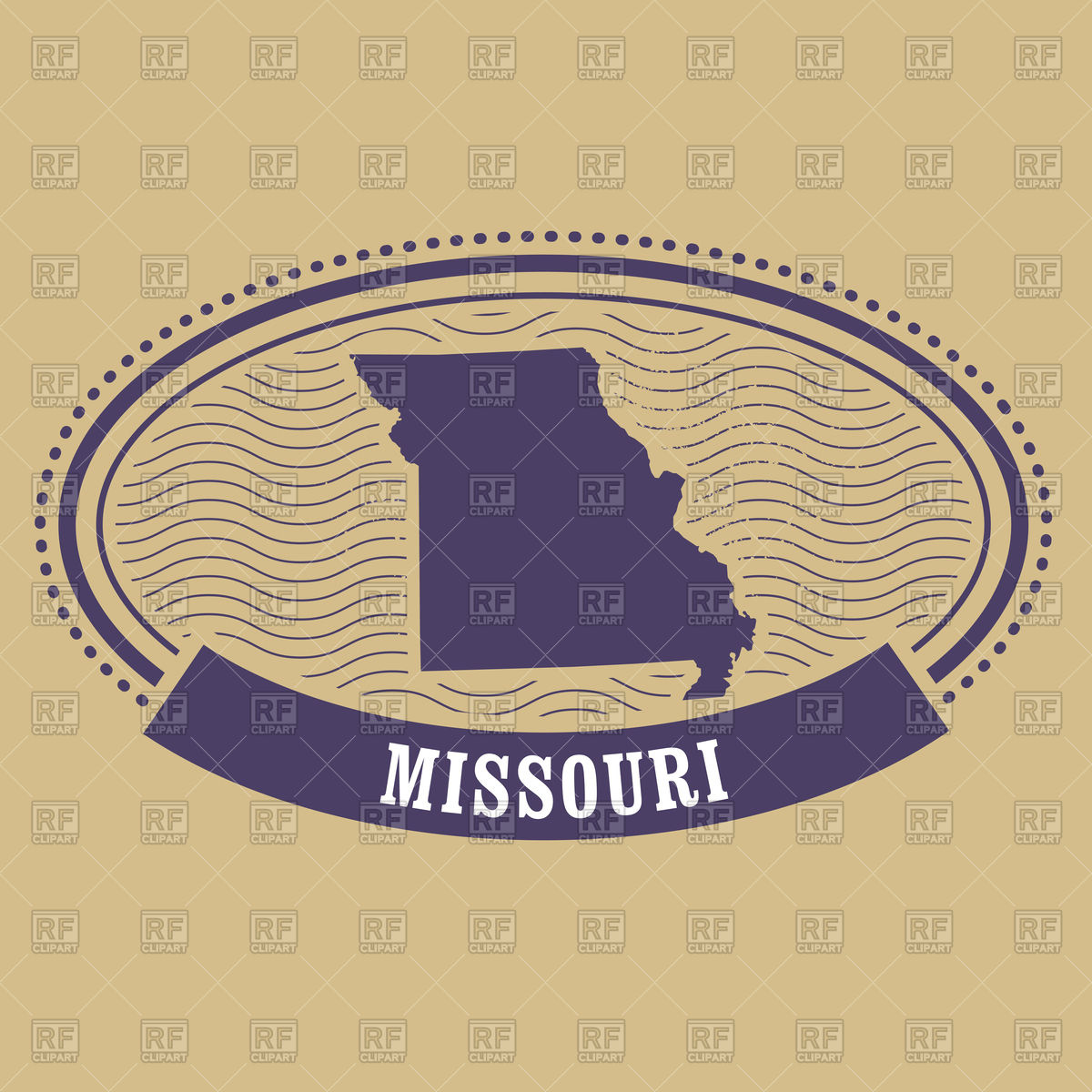 1200x1200 Missouri Map Silhouette Vector Image Vector Artwork Of Signs