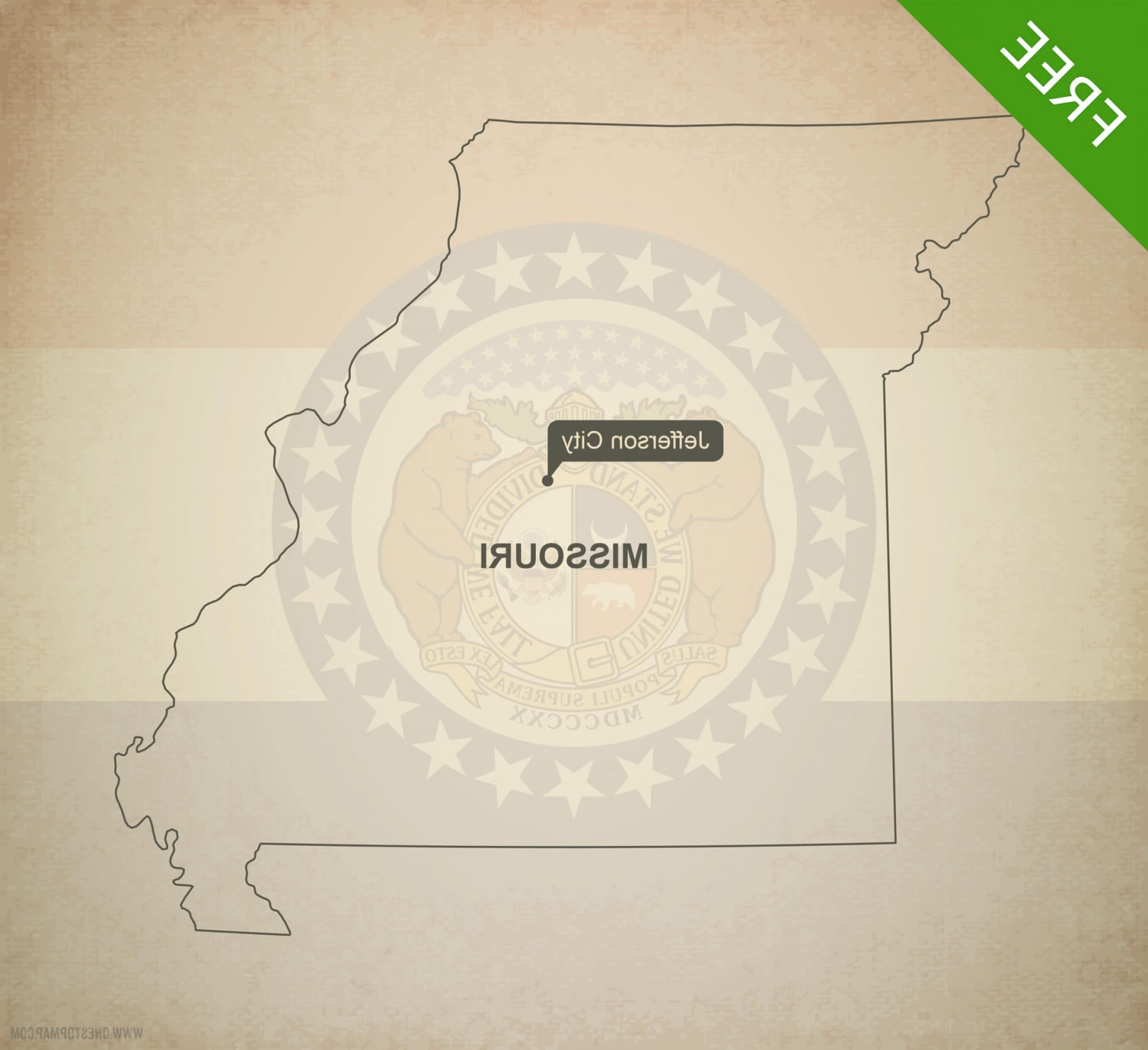 2160x1975 Printable Vector Map Missouri Outline Rongholland