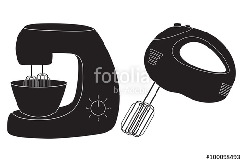 500x334 Hand Mixer And Stand Mixer Icon. Stock Image And Royalty Free