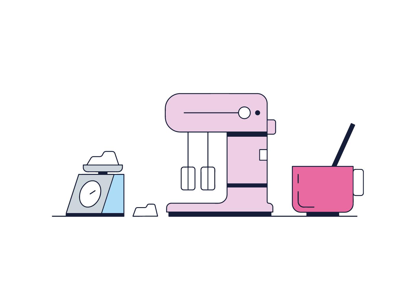 1400x980 Kitchen Mixer Free Vector Art