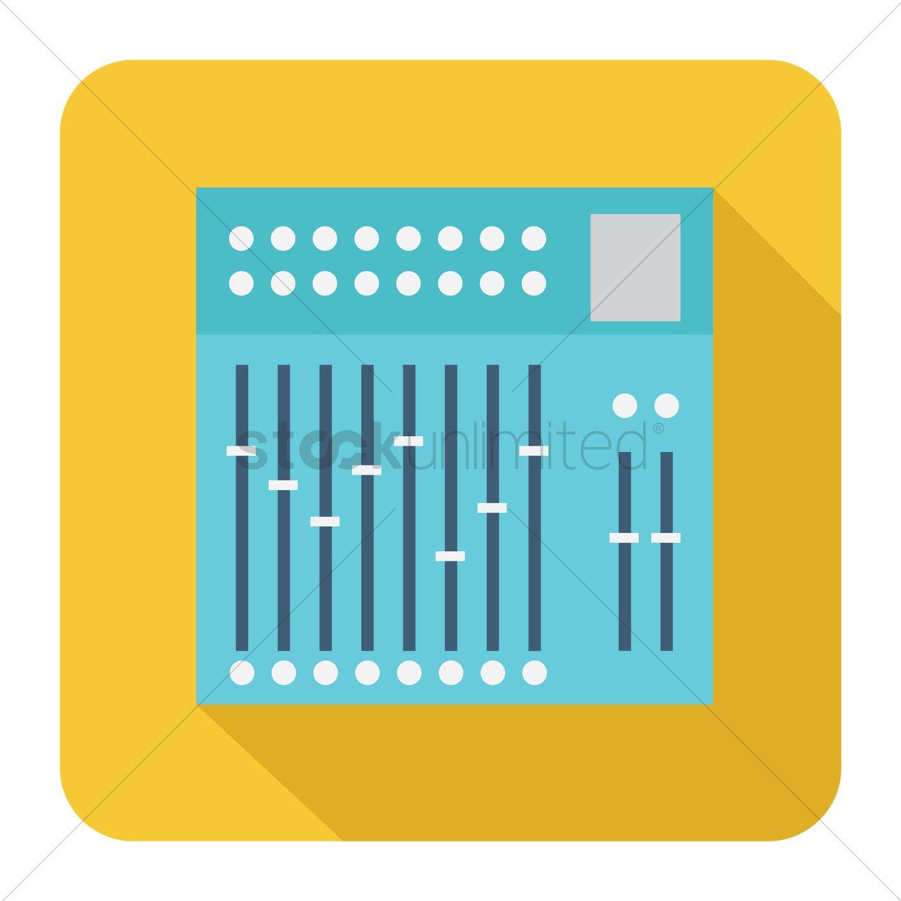 1300x1300 Sound Mixer Vector Image