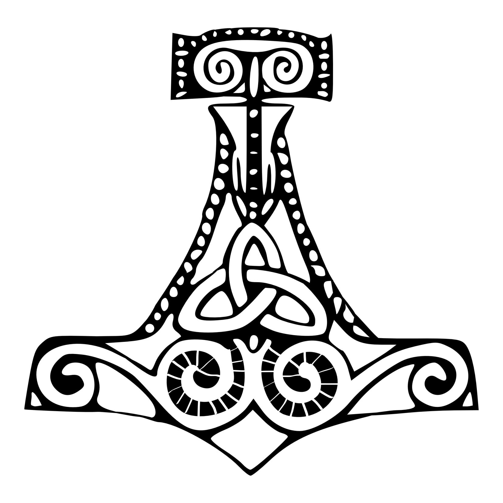 1654x1654 Viking Clipart Thors Hammer