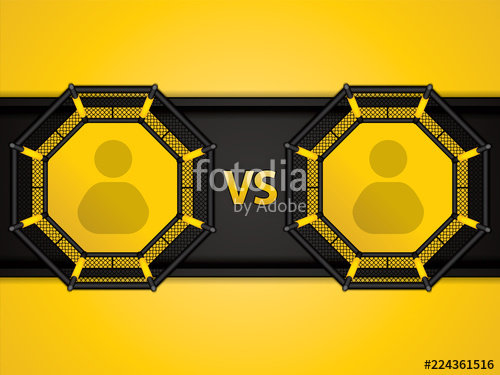 500x375 Mma Octagon Cage Stock Image And Royalty Free Vector Files On