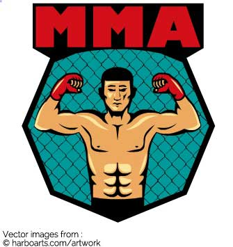 335x355 Download Mma Fighter Pose In Octagon