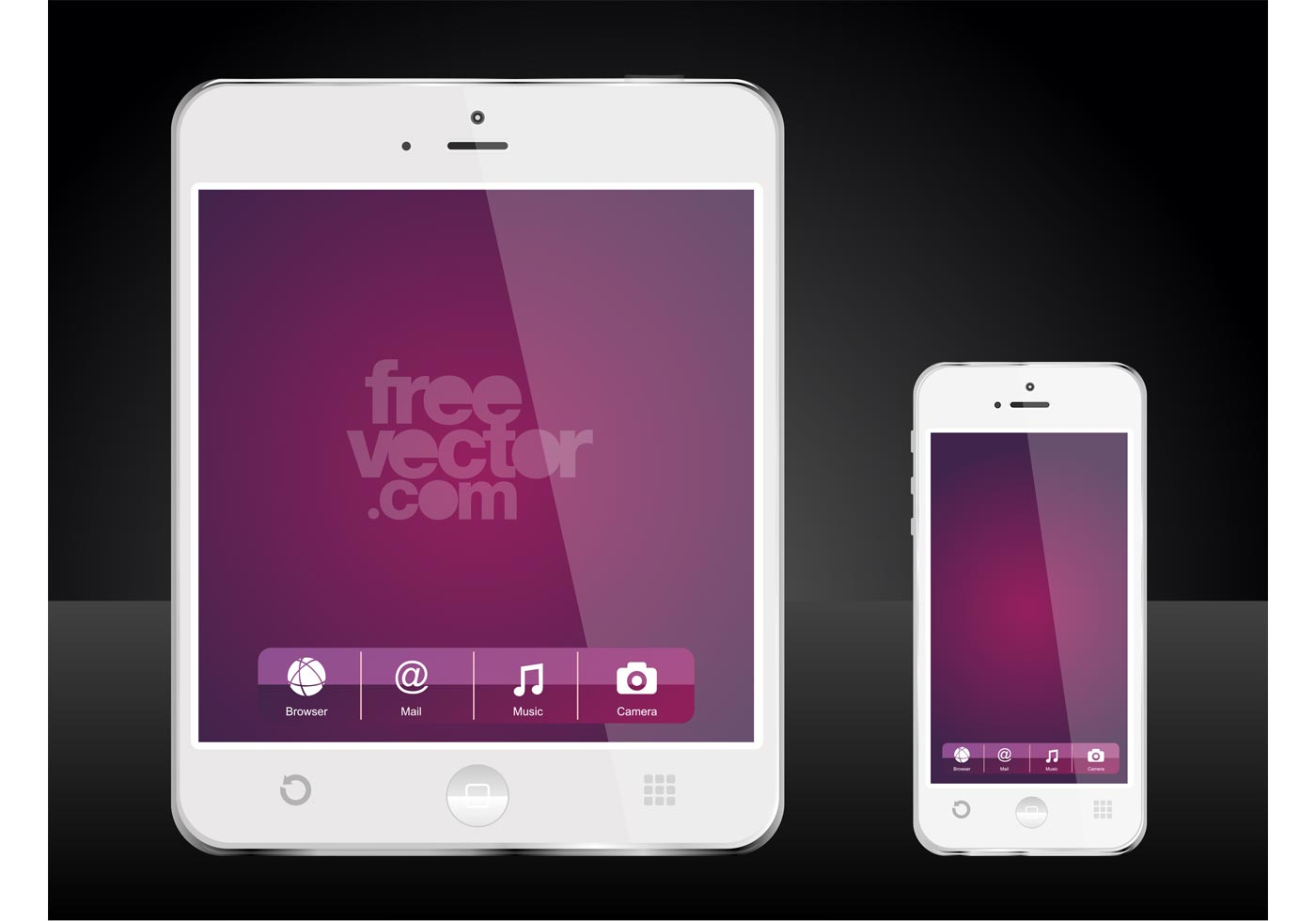 1400x980 Mobile Devices Free Vector Art
