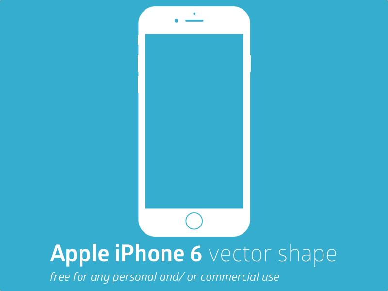 800x600 Apple Iphone 6 Vector Shape Sketch Freebie