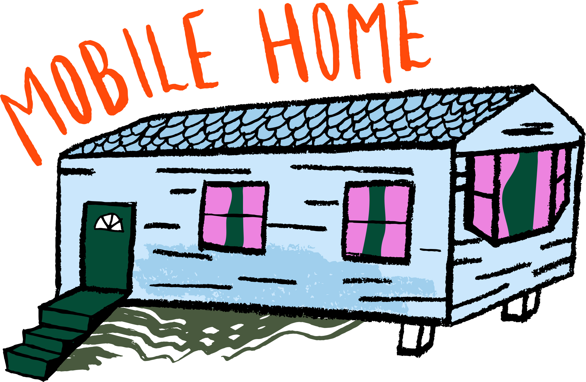 2004x1307 Clipart Of Mobile Homes Jaxstormrealverseus, Mobile Home Art