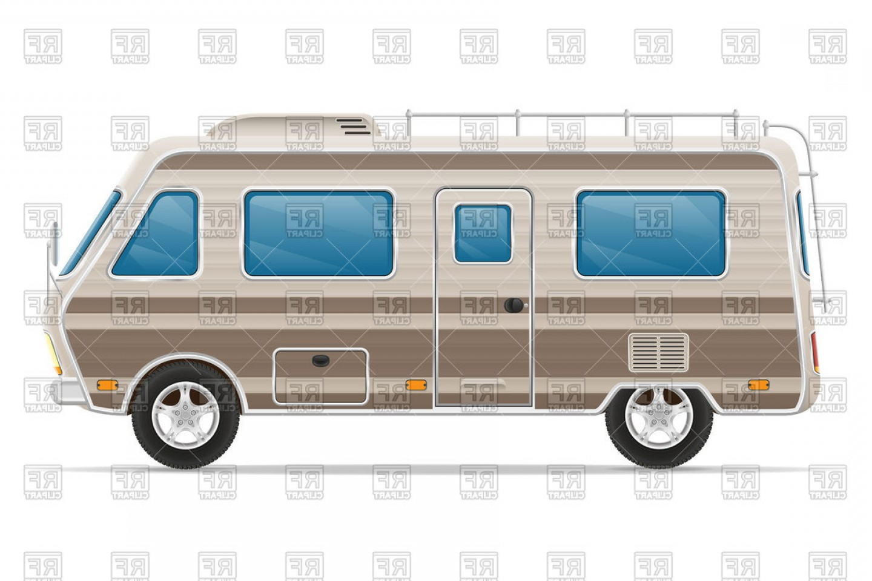 1440x960 Car Van Caravan Camper Mobile Home Vector Clipart Orangiausa