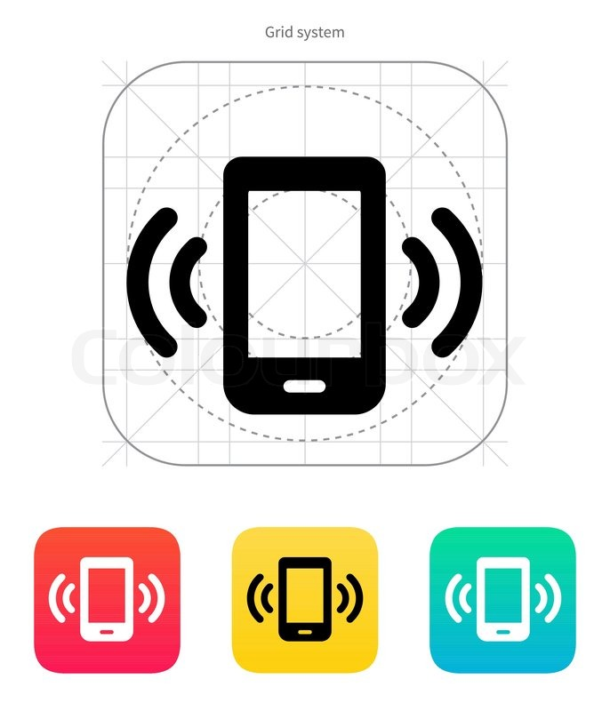686x800 Mobile Phone Bell Icon. Vector Illustration. Stock Vector
