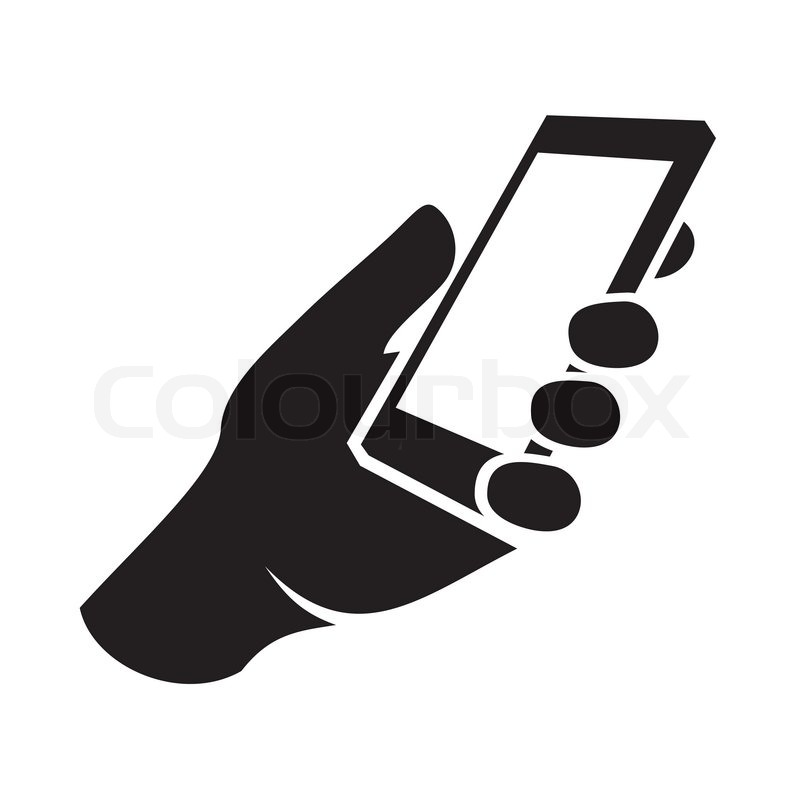 800x800 Mobile Phone In Hand Icon. Vector Illustration Stock Vector