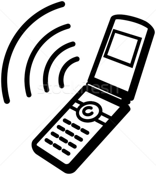 535x600 Ringing Mobile Phone Icon Vector Illustration Vector