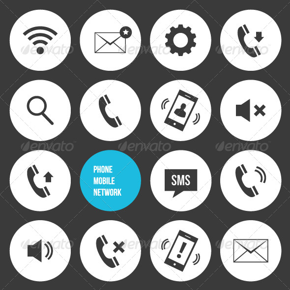 590x590 Vector Mobile Icons By Magurok Graphicriver