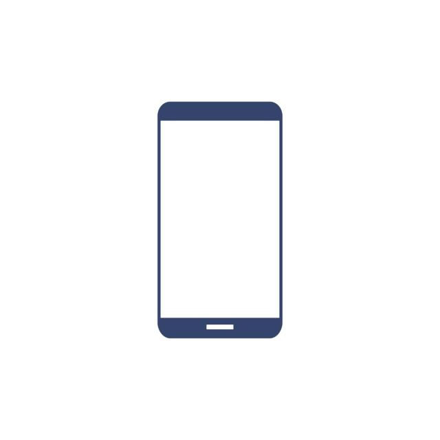 640x640 Phone Icon With Bezel Less Screen Vector, Flat, Simple, Clean Png