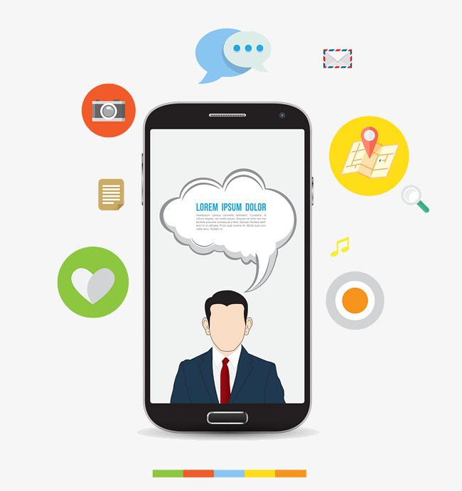 650x691 Vector Elements Business Man With Cell Phone Icon, Vector Elements