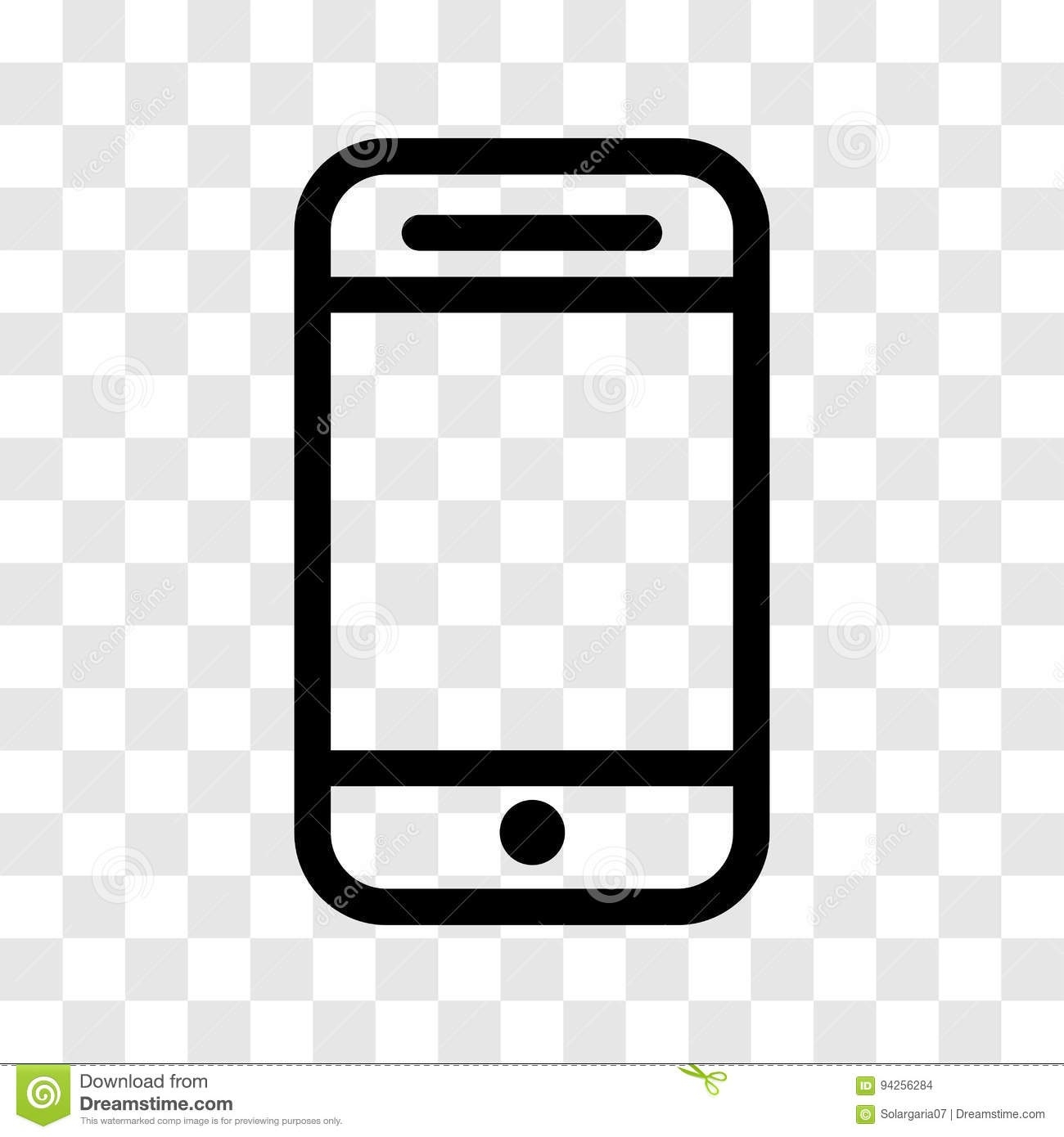 1300x1390 Cell Phone Icon Vector