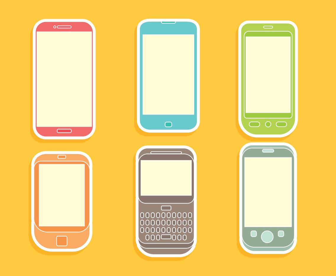 1136x936 Colorful Cell Phone Icons Vector Vector Art Amp Graphics