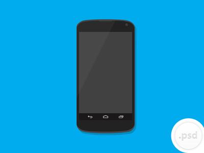 400x300 Mobile Phone Nexus Vector Mockup Psd Free Psd,vector,icons