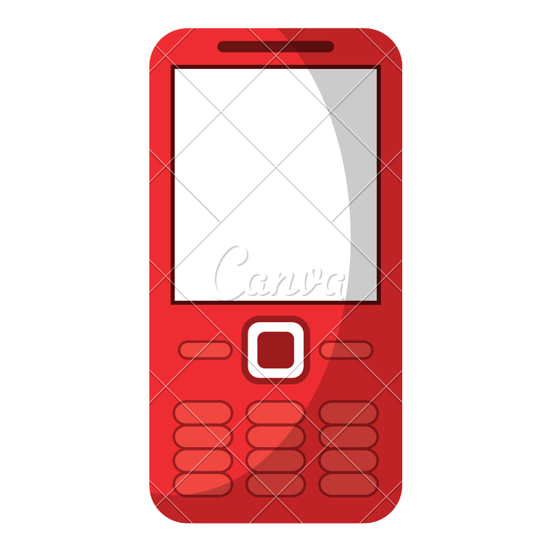 800x800 Mobile Phone Vector