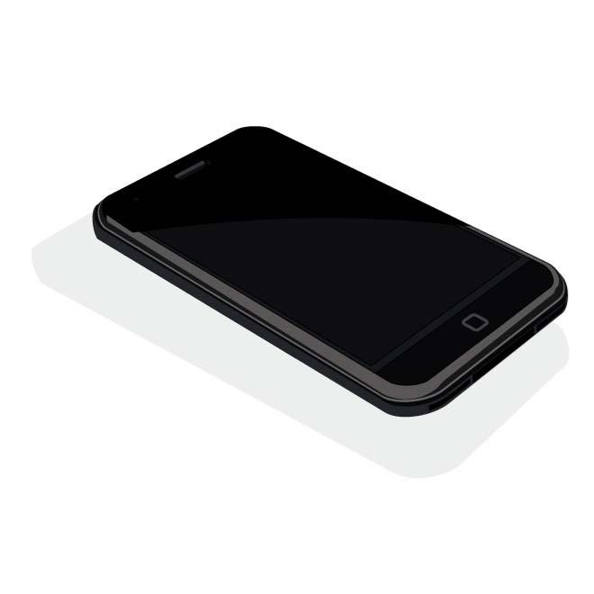 660x660 Black Mobile Phone Vector