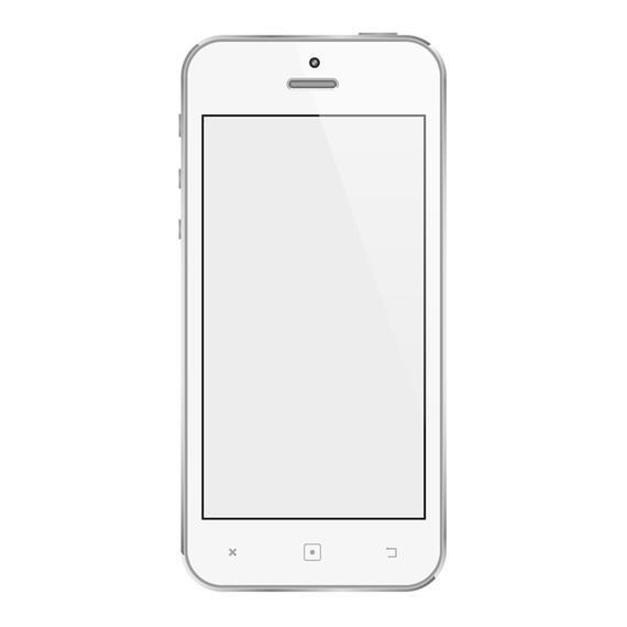 570x570 White Mobile Phone