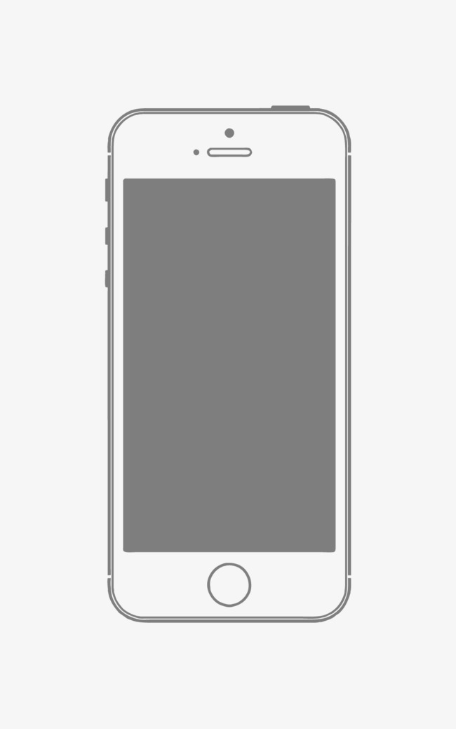 650x1038 Vector Iphone Mobile Phone Frame Material, Vector Mobile Phone
