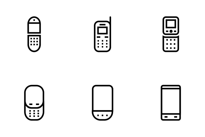 720x480 Download Mobile Vector Line Icons Icon Pack In Svg, Png, Eps, Ai